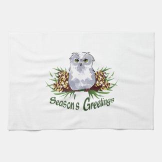 SEASONS GREETINGS HAND TOWELS