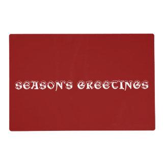 Season's Greetings Laminated Placemat