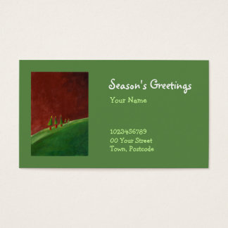 Season's Greetings Landscape Business Card