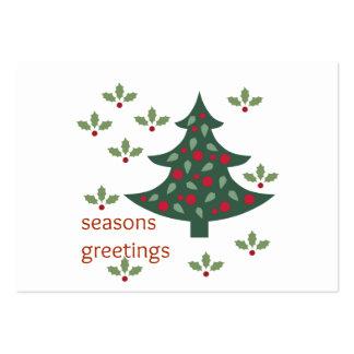 Seasons Greetings Large Business Card