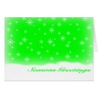 SEASONS GREETINGS LIME GREETING CARDS