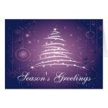 Season's Greetings Line Christmas Tree Card