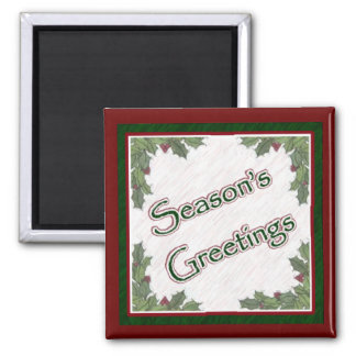 Season's Greetings Magnet
