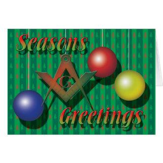 Seasons Greetings Masonically Card