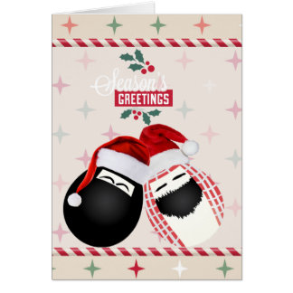Seasons Greetings Merry Christmas Mr. & Mrs. Egg Card