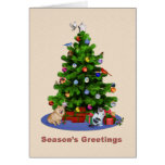 Season's Greetings, Merry Christmas Tree Card