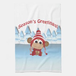 Season's Greetings!  Monkey Kitchen Towels