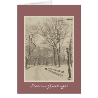 Season's Greetings - New York Central Park Greeting Card