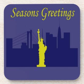 Seasons Greetings NYC Beverage Coaster