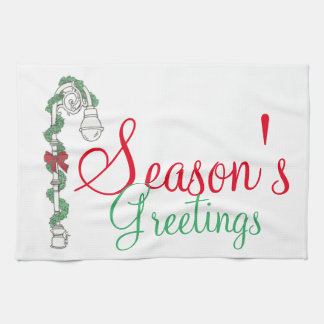 Season's Greetings NYC Lamppost Christmas Towel