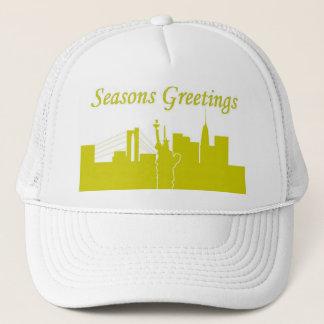 Seasons Greetings NYC Trucker Hat