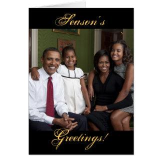 Season's Greetings, Obama Family Christmas Cards
