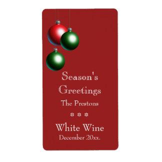 Season's Greetings on Cranberry Custom Shipping Label