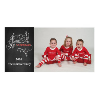 Season's Greetings One Photo Christmas Card