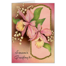 Seasons Greetings Orchids Card