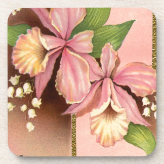 Seasons Greetings Orchids Drink Coasters