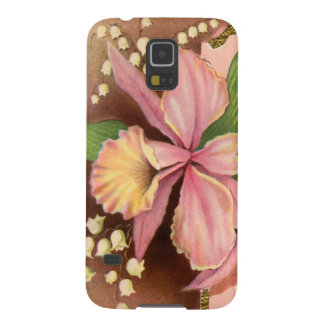 Seasons Greetings Orchids Galaxy S5 Cover