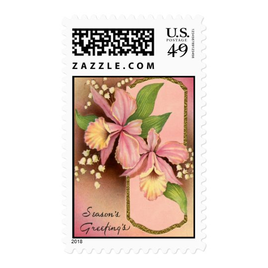 Seasons Greetings Orchids Postage