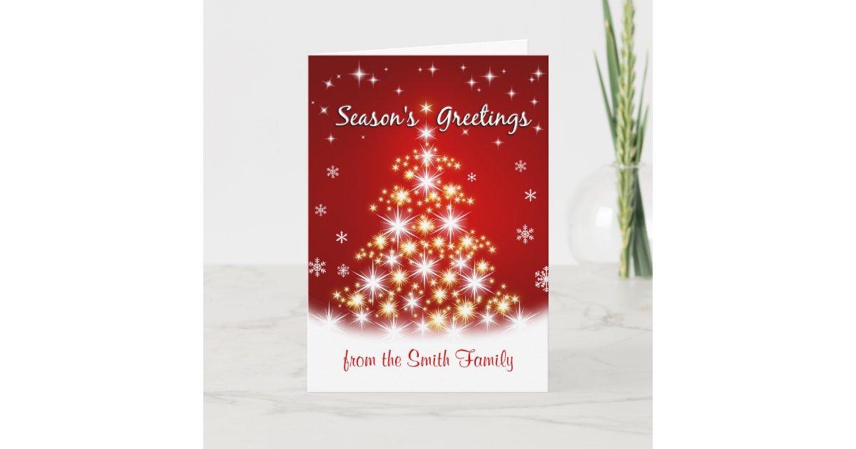 Season\'s Greetings - Personalized Christmas Cards | Zazzle.com
