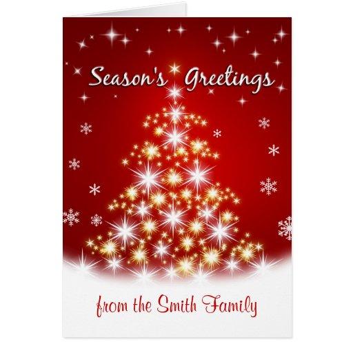 Season's Greetings - Personalized Christmas Cards | Zazzle: www.zazzle.com/seasons_greetings_personalized_christmas_cards...
