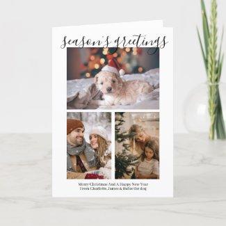 Season's Greetings Personalized Photo Christmas Holiday Card