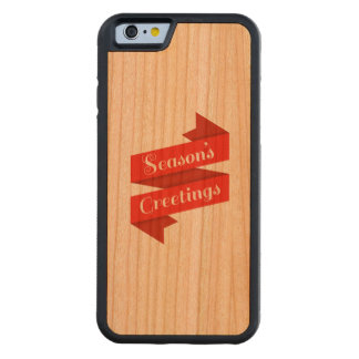 Seasons Greetings (phone case) Carved Cherry iPhone 6 Bumper Case