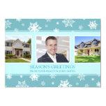 Season's Greetings Photo Card Real Estate Business Custom Invitations
