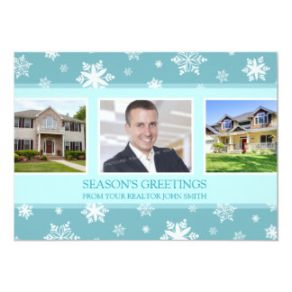Season's Greetings Photo Card Real Estate Business