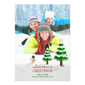 Season's Greetings Photo Flat Card