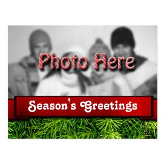 Season's Greetings Photo Template Christmas Postcard