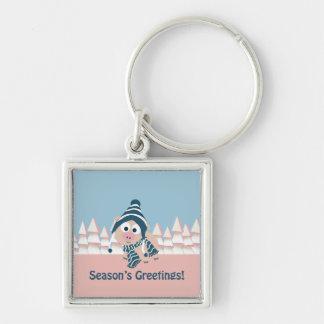 Season's Greetings pig Keychain