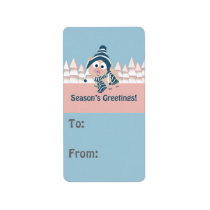 Season's Greetings pig Label