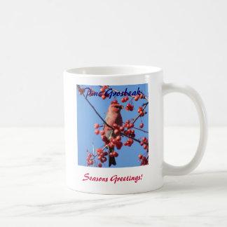 Seasons Greetings!, Pine Grosbeak Mug