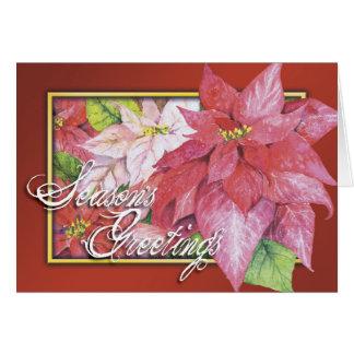 Season's Greetings Poinsettia Card