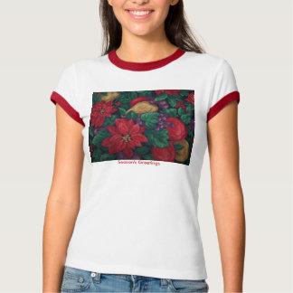 Season's Greetings, Poinsettia&Fruit T-Shirt
