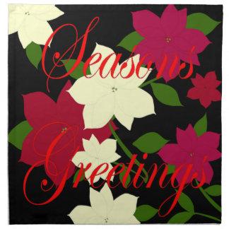 Seasons Greetings Poinsettia Napkin