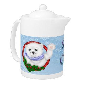 Season's Greetings Polar Bear Teapot