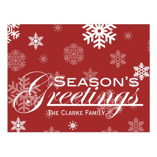 Season's Greetings Post Card
