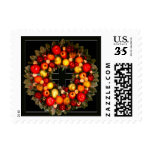 Season's Greetings Post Card Size Postage Stamps