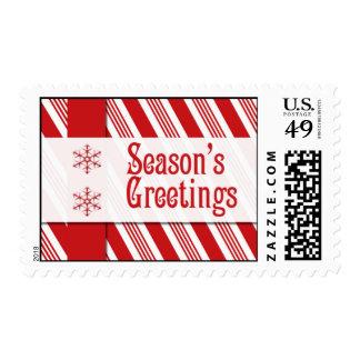Season's Greetings Postage Stamps