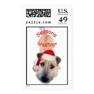 Seasons Greetings Postage Stamp
