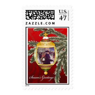Season's Greetings Postage Stamp
