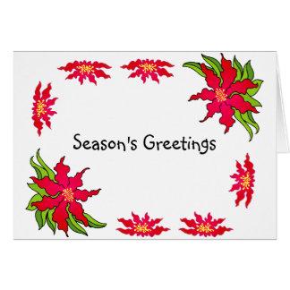 Season's Greetings Postage Stamp Card