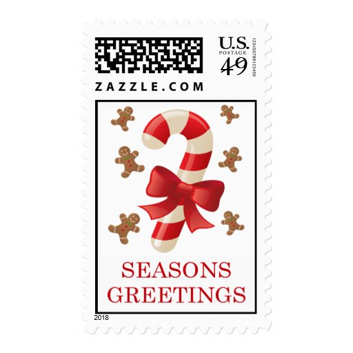 SEASONS GREETINGS POSTAGE STAMPS | Zazzle