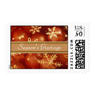 Season's Greetings Postage Stamps at Zazzle