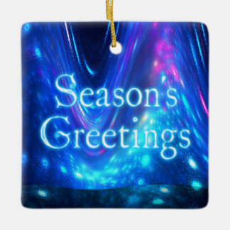 Season's Greetings - Qaanaaq - Northern Lights Ceramic Ornament