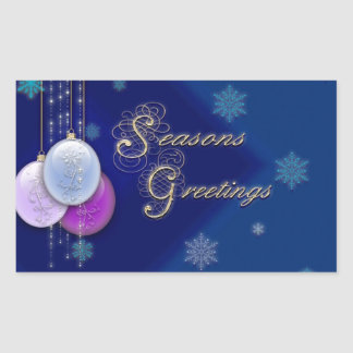 Season's Greetings Rectangular Sticker