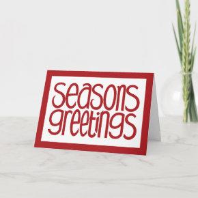 Seasons Greetings Red Card