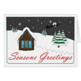 Seasons-Greetings-red Greeting Cards