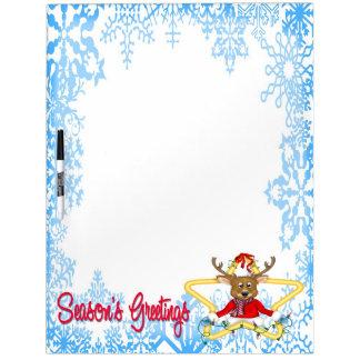 Season's Greetings Reindeer Dry Erase Board Lagre